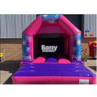 16*16*9.5 Ft Kids Bouncy Castle , Small Inflatable Bouncer With 0.55 PVC Tarpulin