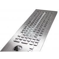 China IP67 82 Keys Embedded Milk Proof Metal Kiosk Keyboard Optical Trackball For Outdoor on sale