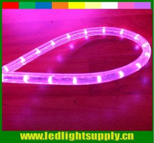China led decoration light 2 wire led pink color solid rope lights on sale