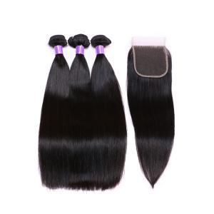 China Unprocessed Brazilian Human Hair Bundles / 100% Virgin Remy Human Hair Extensions on sale