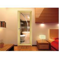Toilet , Kitchen Glass Aluminium Doors / Decorative Double Glass Doors
