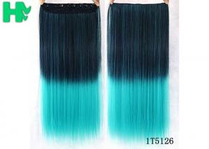 China No Shedding Synthetic Hair Weave Extensions Machine Made 100 Gram Coloured supplier