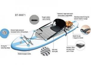 China EN71 PVC Tower adventurer inflatable sup paddle boards with one seatting on sale