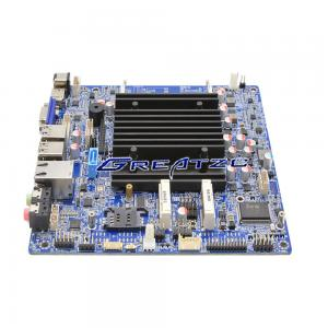 China Fanless MINI ITX Motherboard Integrated CPU N3150 With Low TDP 6W Quad Core on sale
