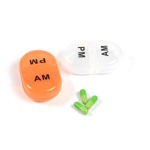 China High Quality 2 Compartments Plastic Pill Box & Travel Portable Mini Pill Box,Pill Case Storage on sale