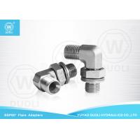90 Degree Elbow BSP Male Hydraulic Flare Fittings 60° Seat With Adjustable Lock Nut