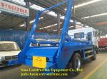 Special Purpose 10m3 Swing Arm Garbage Truck DF Or HOWO 4x2 Chassis 226hp