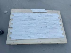 China White Quartzite Cultured Stone Panels Natural Slate Stone For Indoor Outdoor on sale
