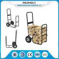 Log Hand Collapsible Hand Truck Black Color Foldable 185mm Toe Plate 100kg Load