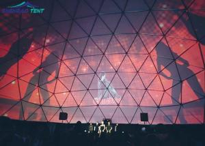China 1000 People Large Geodesic Dome Tent For Concert Exhibition , Diy Marquee Tent on sale