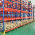Durable Steel Heavy Duty Pallet Racks Warehouse Storage Shelving Powder Coating Surface