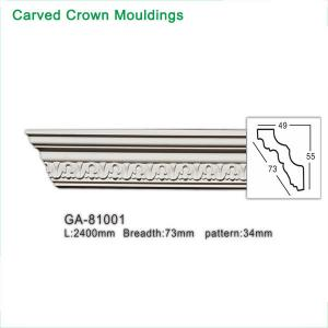 China 2017 newly polyurethane foam crown cornice moulding wholesale