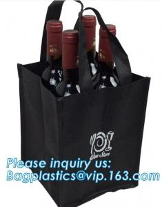 China Recycle Durable Two Bottles Non Woven Wine Bag, customized high quality non woven fabric wine bottle bags, bagease, pac on sale