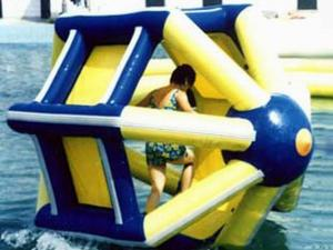 China PVC tarpaulin Inflatable Water Roller , Inflatable Water Park Amusement Equipment on sale