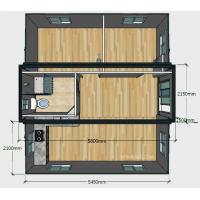 20ft Basic Collapsible Container House , Expandable 2 Bedroom Portable Building