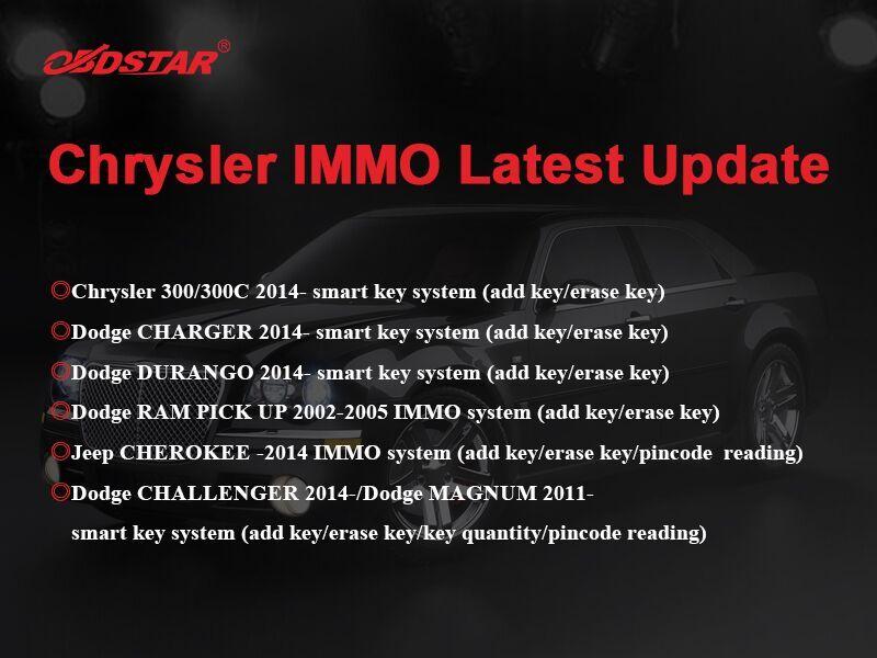 OBDSTAR X300 DP Plus X300 PAD2 Update