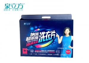 China Hand Wash Laundry Detergent Sheets  6 PCS PACK Eco Friendly For Business Trip on sale