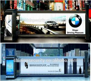 China New Advertising Idea-Outdoor Used Car Parking Advertising Boom Barrier on sale
