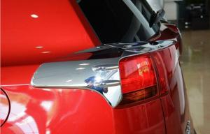 China Chrome Car Tail light Covers , 2013 / 2014 Toyota RAV4 Rear Lamp Garnish on sale