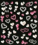 Etiquetas engomadas del clavo de la moza descarada de la manicura francesa