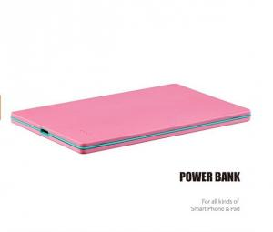 China Ultra Slim 3000mAh Li - polymer Portable Backup Battery Power Bank for Smart Phone on sale