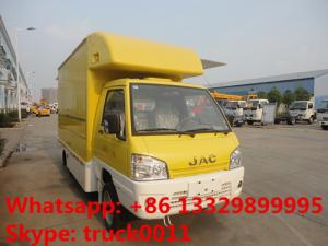 China JAC mini fast food truck,mobile food truck,fast food van 1.5 ton on sale, JAC brand gasoline ice-cream truck for sale on sale