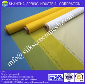China screen printing fabric mesh 68T white/yellow polyester printing mesh for screen printing on sale