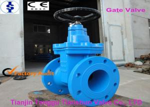 China Rubber Seated Resilient Solid Wedge Gate Valve Corrosion Resistant API600 on sale