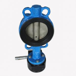 China Industrial butterfly wafer valve With Gearbox , PN 10 Bar Hand / Manually Operated on sale