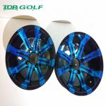 12 Inch Wheel rim In Blue Colour  For Golf Cart Use