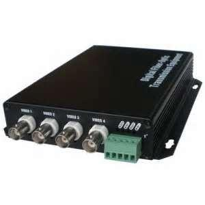 China Custom 4 channel digital video RS-232, RS422, RS-485 Ethernet Serial Converter  with NTSC, PAL on sale
