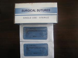 China Disposable PE surgical suture with needles China maufacturer 12 pcs in a box on sale