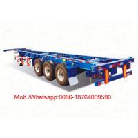 Skeleton Semi Trailer Trucks , 2 or 3 Axles 20ft 40ft Container Trailer