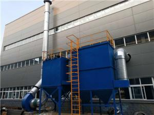 China 57034m3/h Sandblasting Dust Collection System Equipped With Shot Blasting Machine on sale