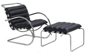 China leather sofa, leather lounge chair and ottoman, metal chair, #3023 on sale