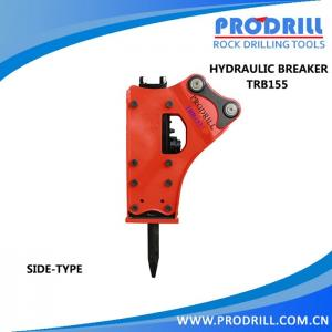 China Hydraulic Excavator Rock Breaking Hammer is used in Quarry for breaking rocks on sale