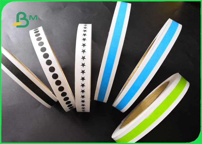 Width 14mm 15mm Custom Printed Striped Drinking Straw Paper FDA Biodegradable