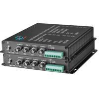 AHD/TVI/CVI to fiber converter 4-Ch video 1080P with data