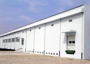 China Industrial steel structure workplant building with concrete wall on sale