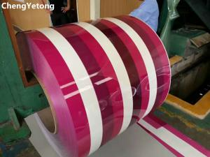 China Household Appliance Cold Rolled Stainless Steel Coil With SMP Coating Pattern Printed on sale
