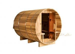 China Stylish Grade A Wooden Red Cedar Steam Sauna Barrel Room for 5 - 6 Person on sale