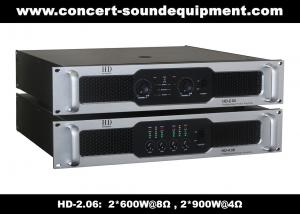 China 8Ω Stereo Output 2 X 600W Analog Audio Amplifier For Living Event / Concert on sale