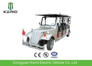 China Silver Eco Friendly Electric Vintage Cars Classic 8 Seater Golf Buggy For Pick Up on sale