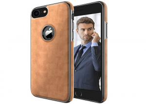 China Brown Soft Profile iphone Tpu Case , Apple Iphone 7 Cell Phone Leather Case on sale