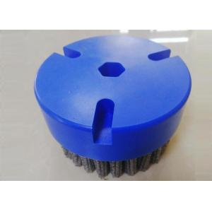 China Fineblanking CNC Deburring Brushes 80mm Outer Diameter With Hexagonal Hole on sale