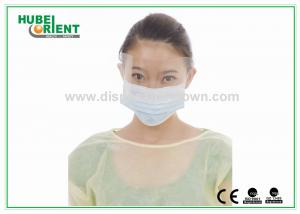 China Non Toxic Nonwoven Disposable Patient Gowns Yellow or Other Color on sale