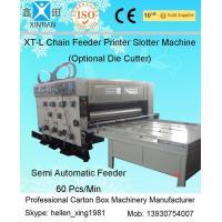 Sticker Printer Machine Flexo Printer Slotter Chain Feeding Model
