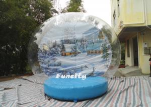 China OEM PVC Tarpaulin PVC Dome Inflatable Snow Globe for Christmas Decoration on sale