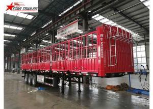 China Cargo Stake Side Wall Semi Trailer 60T Heavy Duty Load on sale