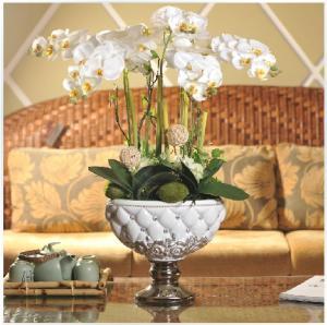China Artificial Orchid Flower Arrangements on sale